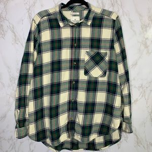 American Eagle Plaid Flannel Shirt Holiday XL